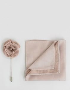 Шелковый платок и булавка для лацкана Feraud - Рыжий