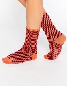 Носки в полоску Johnstons - Оранжевый