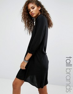 Платье-рубашка с асимметричной кромкой Noisy May Tall Debby - Черный