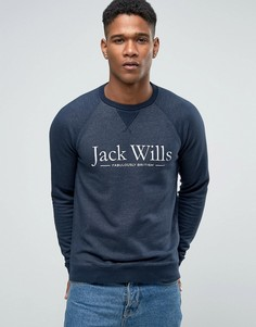 Свитшот с принтом Jack Wills и рукавами реглан Jack Wills - Темно-синий