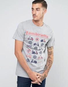 Футболка с принтом скутеров Lambretta - Серый