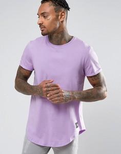 Футболка с закругленным низом Sixth June - Фиолетовый