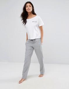 Серые меланжевые фланелевые штаны для дома Jack Wills - Серый