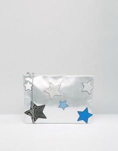 Клатч со звездами Nali - Серебряный