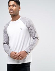 Le Breve Contrast Camo Curved Hem Long Sleeved T-Shirt - Фиолетовый