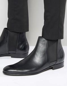 Кожаные ботинки челси Hudson London Adler - Черный