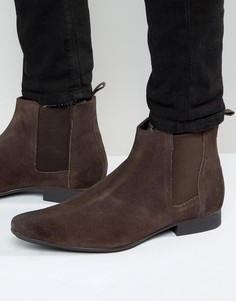 Ботинки челси из коричневой замши Frank Wright - Коричневый