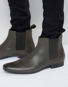 Серые кожаные ботинки челси Frank Wright - Серый