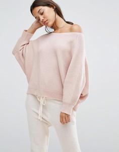 Вязаный джемпер с рукавами летучая мышь Micha Lounge - Розовый