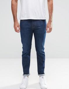 Стретчевые джинсы слим Armani Jeans J06 - Синий
