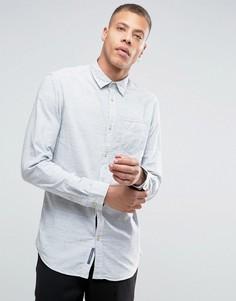Оксфордская меланжевая рубашка Selected - Синий