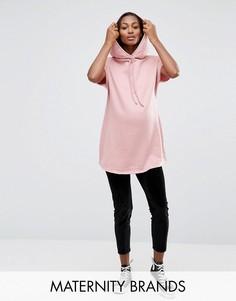Бархатные брюки для беременных с посадкой над животом Bluebelle Maternity - Черный