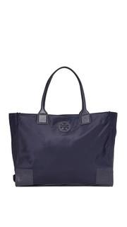 Складная объемная сумка с короткими ручками Ella Tory Burch