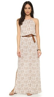 Платье Nirveli с рисунком в стиле икат по всей поверхности Soft Joie