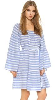 Короткое платье в полоску в деревенском стиле Lisa Marie Fernandez