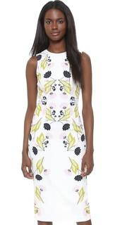 Платье-футляр Stencil с цветочным рисунком Cynthia Rowley