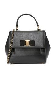 Маленькая сумка-портфель Carrie Salvatore Ferragamo