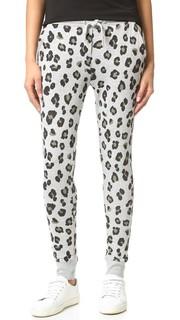 Спортивные брюки с равномерным леопардовым принтом Zoe Karssen