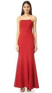 Вечернее платье без бретелек Jill Jill Stuart