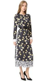Двухслойное шелковое платье Eleanor Mother of Pearl
