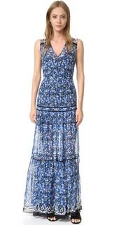 Многоуровневое макси-платье Tecater Veronica Beard