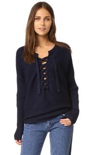 Рубчатый свитер со шнуровкой Designers Remix