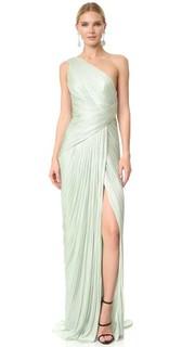 Вечернее платье с открытым плечом Maria Lucia Hohan