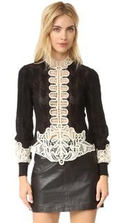 Трикотажный свитер в викторианском стиле Anna Sui