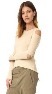 Свитер с округлым вырезом и открытыми плечами 525 America