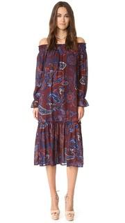 Платье с открытыми плечами и узором «восточный огурец» Re:Named