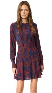 Платье Odette из шелка с цветочным принтом Tanya Taylor