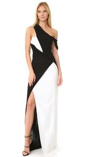 Драпированное вечернее платье Mugler