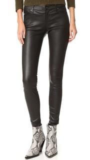 Кожаные джинсы-леггинсы AG