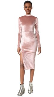 Бархатное миди-платье с разрезом Re:Named