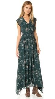 Макси-платье с оборками и V-образным вырезом See by Chloe