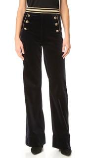 Бархатные брюки в морском стиле Hilfiger Collection