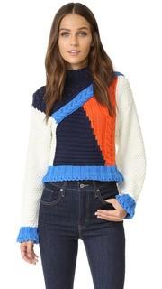 Свитер с цветными блоками Glamorous