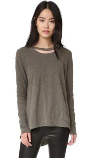 Пуловер с двойным необработанным вырезом Wilt