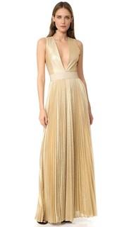Плиссированное вечернее платье Carisa Sunburst Alice + Olivia
