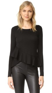 Dillmah Ruffle Sweater Club Monaco