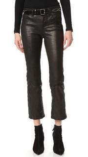 Укороченные кожаные брюки Selena J Brand