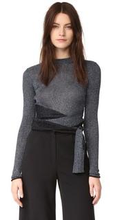 Пуловер с длинными рукавами и металлизированными завязками 3.1 Phillip Lim