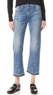 Винтажные укороченные джинсы Rag & Bone/Jean