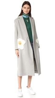 Объемное пальто с аппликациями в виде яиц Anya Hindmarch