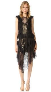 Кружевное платье Kailin с оборками Bcbgmaxazria