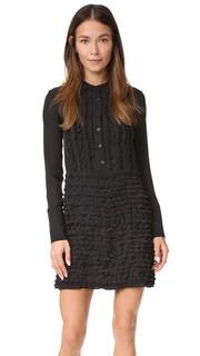 Платье с заниженной талией и оборками Cynthia Rowley