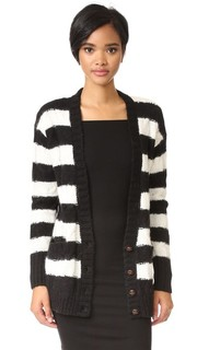 The V Neck Cable Cardigan Current/Elliott