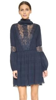 Кружевное мини-платье Ganni