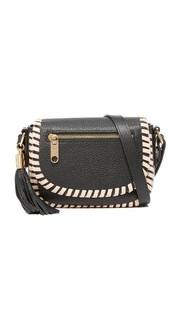 Маленькая седельная сумка Astor с контрастными обметочными стежками Milly