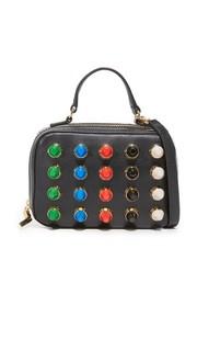 Миниатюрная сумка-портфель с разноцветными заклепками Milly